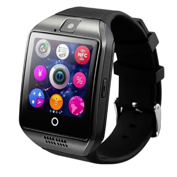 Wearable Devices Q18 Passometer Smart watch with Touch Screen camera TF card Bluetooth smartwatch for Android 2