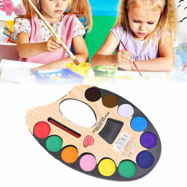 1 Sets Of 12 color Watercolor Pressed Powder Solid Student Painting Enthusias 13
