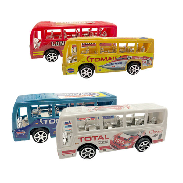 Gifts Small Toys Return Force Bus Car Milk Big Funny18
