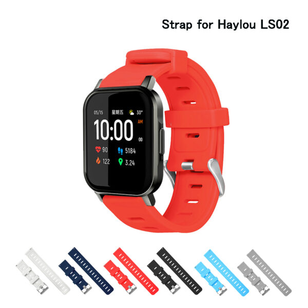 Silicone Soft Strap for Haylou LS02 Smart Watch Wrist Bracelet for XiaoMi Haylou Watchband21