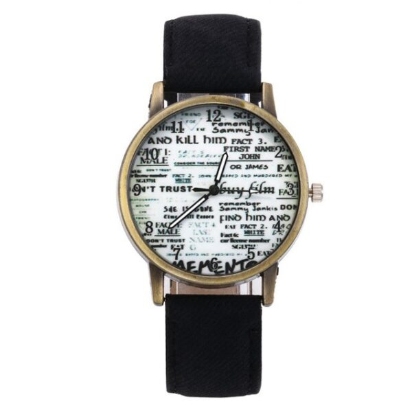 Women Retro Watch Lovers Numerals Newspaper Dial Design Watches Students Cre 6