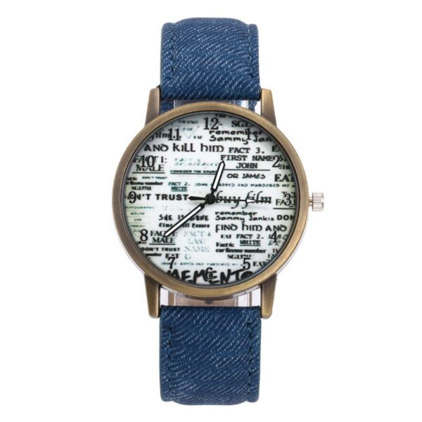 Women Retro Watch Lovers Numerals Newspaper Dial Design Watches Students Cre 8