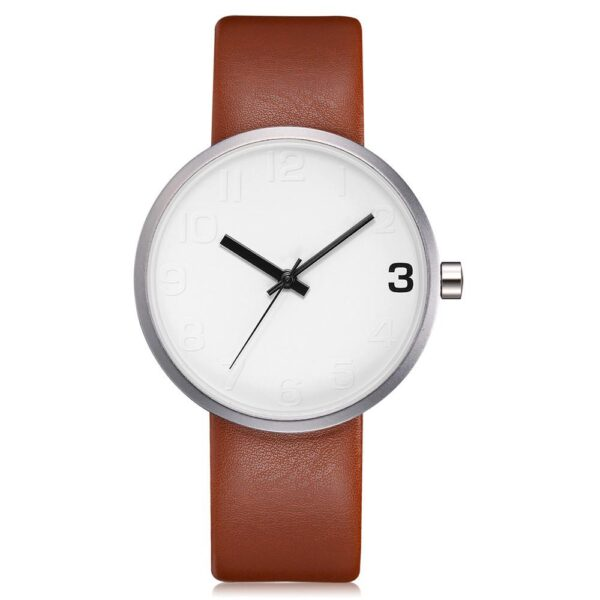 TOMI Fashion Casual Men s Rounded Bussines Retro Design Leather Band Watch Relogio Masculino Erkek 109