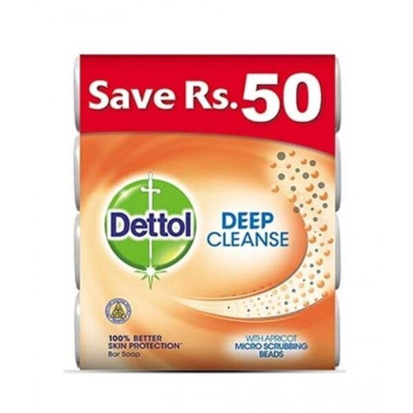 dettol deep cleanse soap 130gm pack of 4