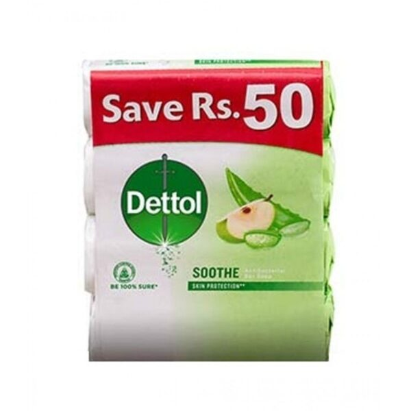 dettol soothe soap 130gm pack of 4