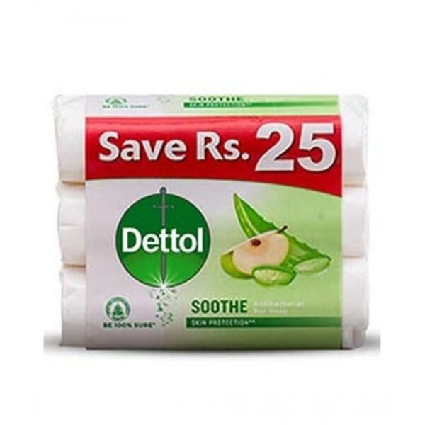 dettol soothe soap 85gm pack of 3