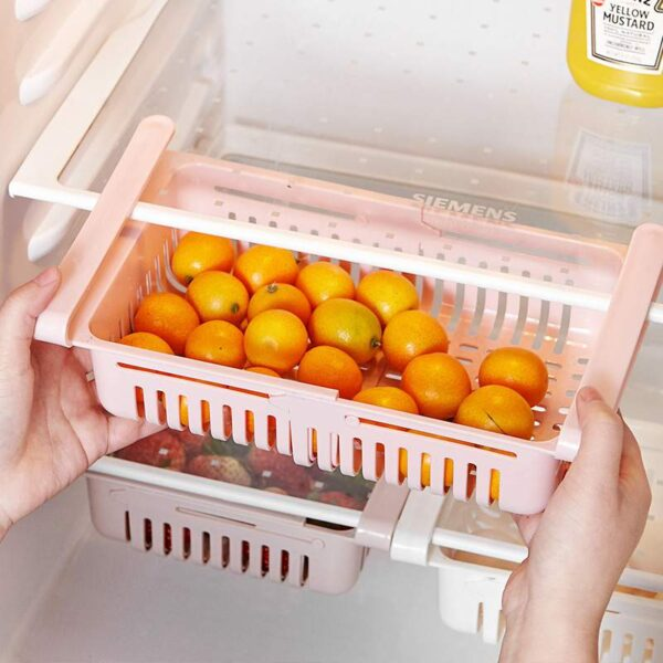 Retractable Fridge Drawer Organizer Food Fruit Containers for